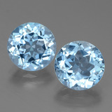 thumb image of 6.5ct Round Facet Swiss Blue Topaz (ID: 439785)