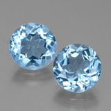 thumb image of 3.1ct Round Facet Swiss Blue Topaz (ID: 439786)