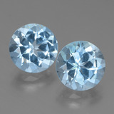 thumb image of 6.5ct Round Facet Swiss Blue Topaz (ID: 439792)