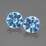 thumb image of 5.7ct Round Facet Swiss Blue Topaz (ID: 439850)
