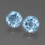 thumb image of 6.3ct Round Facet Swiss Blue Topaz (ID: 439853)