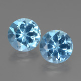 thumb image of 6.4ct Round Facet Swiss Blue Topaz (ID: 439904)