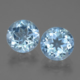 thumb image of 3.3ct Round Facet Swiss Blue Topaz (ID: 439944)