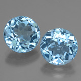 thumb image of 6.4ct Round Facet Swiss Blue Topaz (ID: 439999)