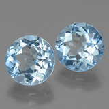 3.31 ct Round Facet Swiss Blue Topaz Gem 9.15 mm  (Photo B)