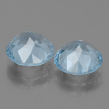 3.31 ct Round Facet Swiss Blue Topaz Gem 9.15 mm  (Photo C)