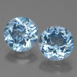 thumb image of 6.4ct Round Facet Swiss Blue Topaz (ID: 440009)