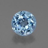 thumb image of 3.6ct Round Facet Swiss Blue Topaz (ID: 440049)