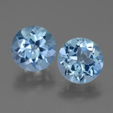 thumb image of 6.7ct Round Facet Swiss Blue Topaz (ID: 440071)