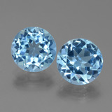 thumb image of 6.2ct Round Facet Swiss Blue Topaz (ID: 440079)
