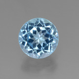 thumb image of 3.5ct Round Facet Swiss Blue Topaz (ID: 440122)