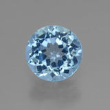 thumb image of 3.4ct Round Facet Swiss Blue Topaz (ID: 440123)
