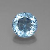 thumb image of 2.9ct Round Facet Swiss Blue Topaz (ID: 440154)