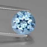 thumb image of 3.2ct Round Facet Swiss Blue Topaz (ID: 440160)