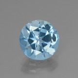 thumb image of 3.2ct Round Facet Swiss Blue Topaz (ID: 440161)