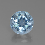 thumb image of 3.5ct Round Facet Swiss Blue Topaz (ID: 440162)