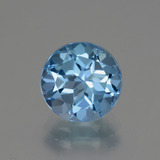 thumb image of 3.3ct Round Facet Swiss Blue Topaz (ID: 440209)