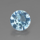 thumb image of 2.9ct Round Facet Swiss Blue Topaz (ID: 440246)