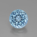 thumb image of 3.4ct Round Facet Swiss Blue Topaz (ID: 440249)