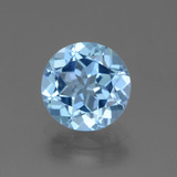thumb image of 3ct Round Facet Swiss Blue Topaz (ID: 440303)