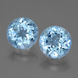 thumb image of 6.7ct Round Facet Swiss Blue Topaz (ID: 440304)
