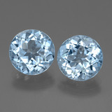 thumb image of 3.3ct Round Facet Swiss Blue Topaz (ID: 440305)