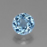 thumb image of 2.8ct Round Facet Swiss Blue Topaz (ID: 440336)