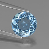 thumb image of 3.3ct Round Facet Swiss Blue Topaz (ID: 440340)