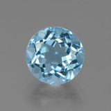 thumb image of 3.7ct Round Facet Swiss Blue Topaz (ID: 440343)