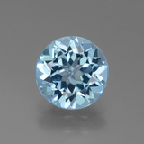 thumb image of 2.9ct Round Facet Swiss Blue Topaz (ID: 440344)