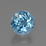 thumb image of 3.6ct Round Facet Swiss Blue Topaz (ID: 440399)