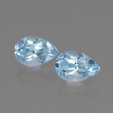 thumb image of 3.5ct Pear Facet Swiss Blue Topaz (ID: 441945)