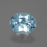 thumb image of 3.1ct Oval Facet Sky Blue Topaz (ID: 442409)