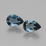 thumb image of 3ct Pear Facet London Blue Topaz (ID: 442511)