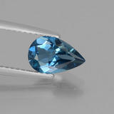 thumb image of 1.5ct Pear Facet London Blue Topaz (ID: 442556)