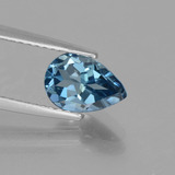 thumb image of 1.6ct Pear Facet London Blue Topaz (ID: 442596)