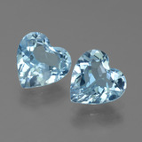 thumb image of 2.6ct Heart Facet Light Cyan Blue Topaz (ID: 442840)