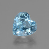 thumb image of 3.2ct Heart Facet Swiss Blue Topaz (ID: 443000)