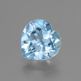 thumb image of 2.9ct Heart Facet Swiss Blue Topaz (ID: 443001)