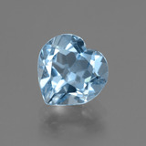 thumb image of 3ct Heart Facet Swiss Blue Topaz (ID: 443005)