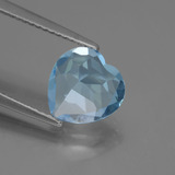 2.74 ct Heart Facet Sky Blue Topaz Gem 9.03 mm x 9.1 mm (Photo C)