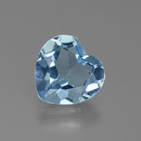 thumb image of 2.6ct Heart Facet Swiss Blue Topaz (ID: 443096)
