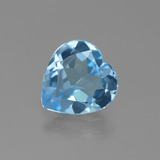 thumb image of 2.1ct Heart Facet Swiss Blue Topaz (ID: 443097)