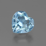 thumb image of 3.1ct Heart Facet Swiss Blue Topaz (ID: 443100)