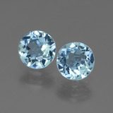 thumb image of 2.1ct Round Facet Swiss Blue Topaz (ID: 444214)