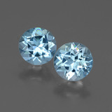 thumb image of 1.9ct Round Facet Swiss Blue Topaz (ID: 444282)
