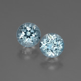 thumb image of 2ct Round Facet Swiss Blue Topaz (ID: 444342)