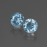 thumb image of 2.1ct Round Facet Swiss Blue Topaz (ID: 444346)