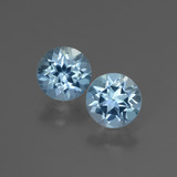 thumb image of 2ct Round Facet Swiss Blue Topaz (ID: 444347)