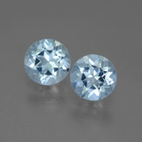 thumb image of 0.9ct Round Facet Swiss Blue Topaz (ID: 444530)